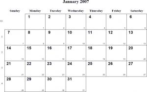 2009年新しいカレンダーを伸ばす裏ワザ!